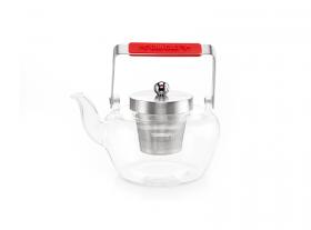 "Teapot""Celeste"" stainless steel strainer, lid & handle 0,9l"
